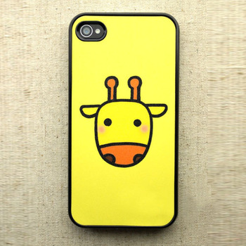Cute Giraffe Valentine Lover Hard Back Case Cover For iPhone 4 4G 4S JS0324
