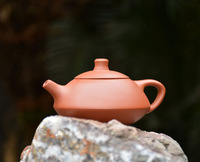 "YIXING ""Red Clay"" Teapot 120cc Tea Pot, best choice for brewing Black Tea, Chinese traditional tea set"