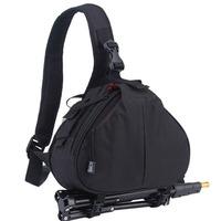 Black Fashion Casual DSLR Camera Bag Messenger Shoulder Bag For Canon Nikon Sony waterproof
