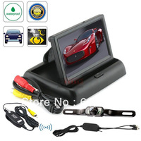 "Free shipping Wireless Car Rear View System Backup Camera + 4.3"" TFT LCD Monitor Night vision"