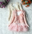 Retail baby Girls Clothing Set coat+Tutu Cake Dress childrens outfits set,2pcs/set 2 colors 4 size high free shipping 2-6 year
