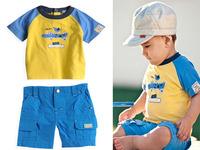 (5set/lot) new 2014 summer baby boys clothing set (t-shirt+short pants) , children print brand new clothing sets, baby suits