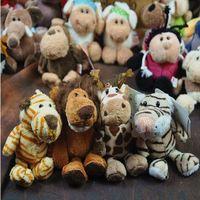 NICI jungle wildlife pendant  sucker keychain  tiger  giraffe  lion  plush toys Mixed wholesale
