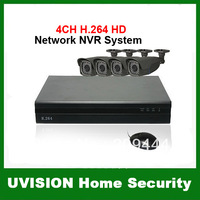 CCTV 4CH H.264 HD 720P Network NVR 4pcs Outdoor 3.7-14.8mm Lens 2MP HD IR Network IP Camera System