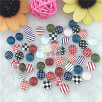 (54pcs/lot) 10mm round cabochon glued on the image glass transparent cabochon blank pendant cover xl104