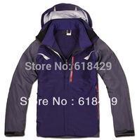 Free Shipping All Seams Taped Men Waterproof Jacket , double layers Men Winter Jackets