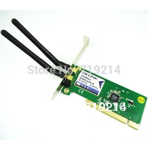 Free Shipping Laptops & Desktops 300Mbps 802.11b/g/n Wireless Lan PCI WiFi Card(China (Mainland))