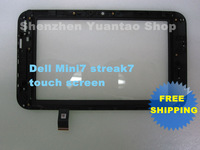 Original New Touch Screen Touch Panel  Digitizer  Replacement for Dell Mini7 streak7 Free Shipping HK Post Air Mail