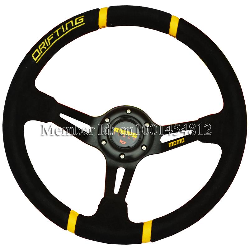 Momo Red Suede Steering Wheel Steering Wheel Suede