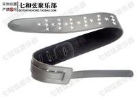 many shining stars electric guitar suspenders/metal rock bass braces/shoulder straps