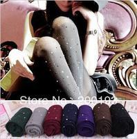 SMILE MARKET Free shipping 1piece/lot 2013 hot selling women leggings with Rhinestone