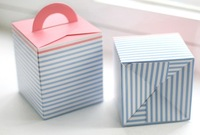 Free Shipping 40pcs/lot L9.5-W9.5-H11cm Paper Cake holder Cupcake Packaging boxes Cookie container