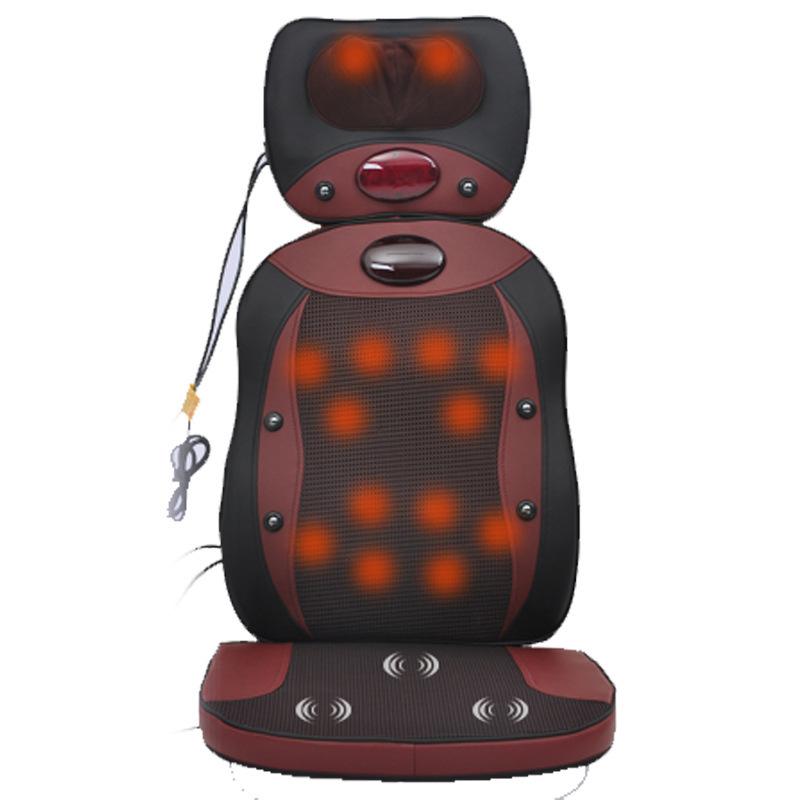 Multifunctional heated massage pad massage device neck massage chair massage cushion 3pcs/set (pillow, support, seat)(China (Mainland))