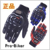 Men Motorcycle Bike Bicycle full finger Protective Racing Gloves Size L XL Black Blue Red Frees Drop Shipping Wholesale