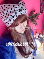 New fashion womens solid  cotton Gray wide stretch  headbands elastic turban headband hair accessories hair band