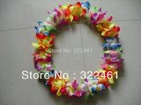 Festive supplies hawaiian flower lei garland/hawaii cheerleading products hawaii necklace 24pcs/lot Wreath 2015 free shipping