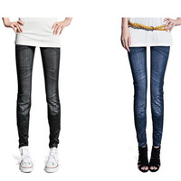 2014  New Jeans Leggings For Women Denim Jeans Color Women's Skinny Fashion Jeggings Elastic Stretchy  Legging Pants