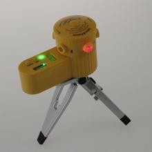 Frete Grátis! Multifuncional Laser Nível Ferramenta Leveler New Plastic com tripé Útil(China (Mainland))