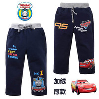 New arrivals free shipping boy's spring and autumn pants THE CARS and THOMAS trousers 100% cotton  trousers