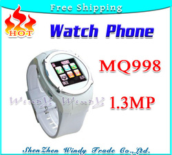 Best sale Watch Phone MQ9981.3MPCamera Unlocked Quadband 1.5&quot; Touch screen Bluetooth Mult-language Spanish Russian Free shipping(China (Mainland))