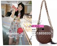Free shipping! Korea Style Girl Small Fringe Check Chain Crossbody Shoulder Bag Women coin purse