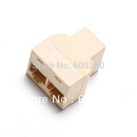 Free shipping RJ45 Network Lan Splitter Extender Connector Plug  #9680
