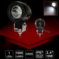 4X 10W 4x4 Truck Driving Work Light bar SUV Van Spot/Flood beam Round Motorcycle Cree LED off-road Light UTV 12V/24V 4WD AWD ATV