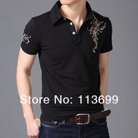 Free shipping Fashion Cotton Slim Men`s T-shirt Casual Shirt Short Sleeve Tee Shirts (Black,White,Purple) Men's Clothing