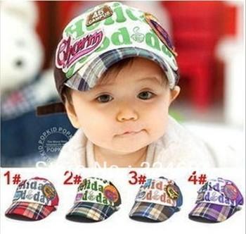 2013 Spring New! Korean Ajustable Cotton Letter Baby Boy Girl Kid Baseball Cap Hat Circket Cap Peaked Cap 4 Colors
