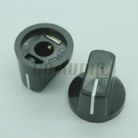10PCS Black Set Pointer Knobs 19*15mm For DIY tube Guitar Amp Effect Pedals