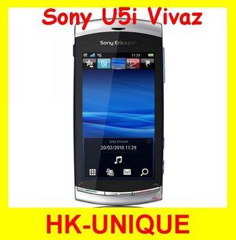 original unlocked Sony Ericsson Vivaz U5i u5 3G network WIFI GPS 8MP camera 3.2 inch touch screen mobile phone free shipping