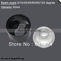 Hot!!!!400x Led Lens 5 Degree For 1w 3w Lamp  Black Holder  Free shipping