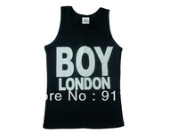 Free shipping BOY LONDON men's tank tops tshirts cottom sleeveless tshirt dropshipping mixed order