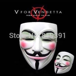 SALE v vendetta mask pp guy fawkes masquerade masks v mask vmask free shipping(China (Ma