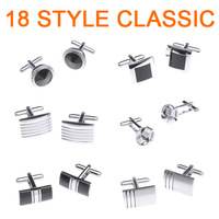3 Pair /lot 2013 Fashion Classic 18 style Men cufflinks Can be mixed ties high quality
