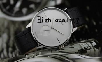 High quality  fashion simple double clock mechanism genuine leather men watch ladies  couple watches 1pcs