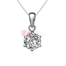 LQ Fine Jewelry Sterling Silver 925 Pendant Cupid Cutting Swiss Diamond Necklace Pendant PD0001