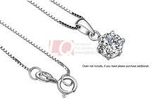 LQ Fine Jewelry Sterling 925 Silver Necklace Platinum Plated Pendant Set Cupid Cutting Cubic Zircon Diamond