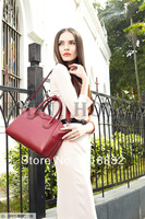 Free Shipping 2013 Fashion 100% Genuine Leather Bag Hot Woman Totes Branded Shoulder Messenger Bags