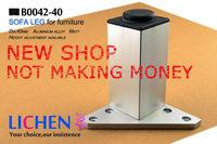 (4 pieces/lot) 50*80mm LICHEN Aluminum Legs&Furniture Cabinet Legs&square Sofa Legs