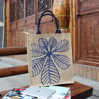 FREE SHIPPING,SIZE 40HX35WX10D(cm),CUSTOM JUTE TOTE BAG WITH YOUR LOGO (1 COLOR 1 SIDE),COLOR CORDED HANDLE, WITH ZIPPER