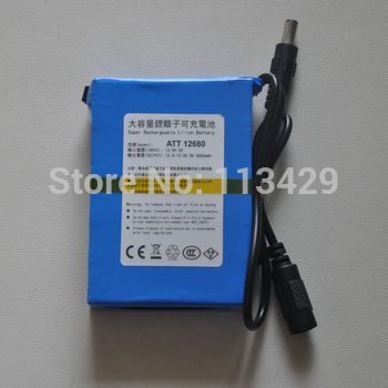 The large capacity rechargeable lithium battery backup power supply of 12V 6800mA 12 volt 6500 mA TM12680