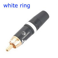 Made by Neutrik China factory YS373-9  RCA Phono Jack Plug RCA Gold male connector White