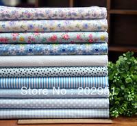 20pcs/lot 45cm*45cm Cool blue series 10 design cotton fabric bundle, DIY 100% cotton partchwork fabric wholesale Freeshipping