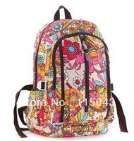 Promotion HOT Selling Fashion Nylon Printing Ladies Rucksack College School Bags Girls Outdoor Travel Shoulder Bag+Free Shipping