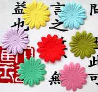 Scrapbook 3.7cm Mixed Color Paper Flowers For Srapbooking  Decorations 7 color  70pcs/ lot Free Shipping
