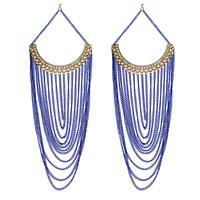2014 Fashion Neon Chandelier Tassel Earring Jewelry  Metal Crystals Earring for Women Free Shipping E254