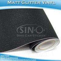 Free Shipping Glitter Diamond Black Car Body Wrapping Sticker 1.52x30m