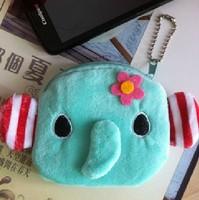 6PCS Mini NEW Elephant Plush Coin Purse Wallet BAG Pouch Handbag Case ; Storage BAG Pendant Case BAG Pouch Coin Pendant Pouch
