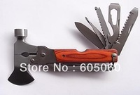 Hot sale,free shipping,Outdoor tools,multi-funtion tools, safety hammer multifunctional camping tools,camping tools